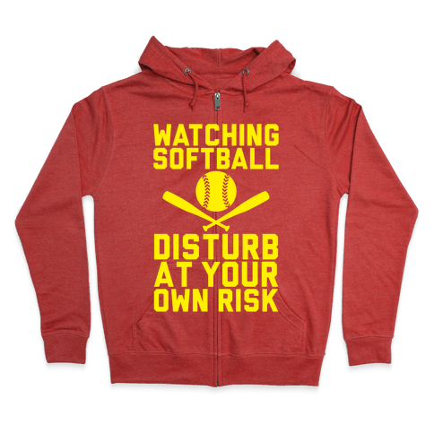 Watching Softball Zip Hoodie