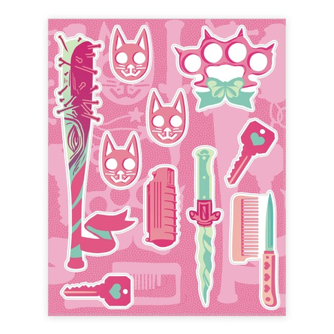 Feminist Fighter Arsenal  Sticker/Decal Sheet