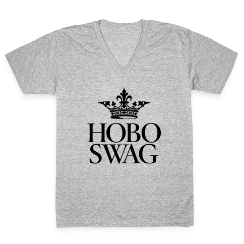 Hobo Swag V-Neck Tee Shirt