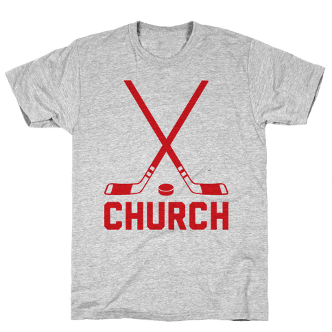 Hockey Church Mens T-Shirt