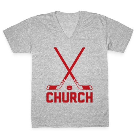 Hockey Church V-Neck Tee Shirt