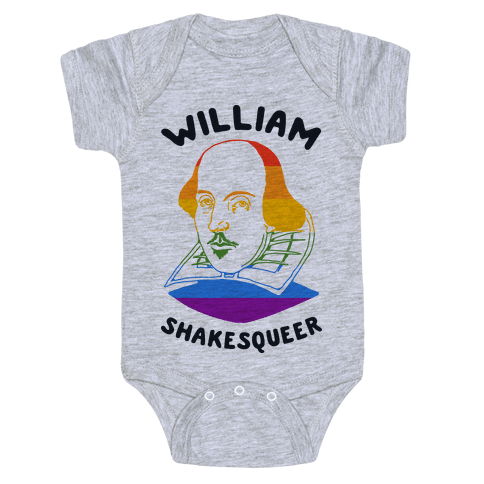 William ShakesQueer Baby Onesy