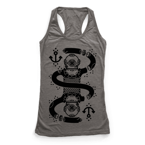 Diver Chopped and Reflected Racerback Tank Top