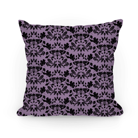 Woodland Moth Pattern Pillow