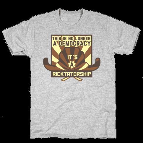 Ricktatorship Revolution Mens T-Shirt