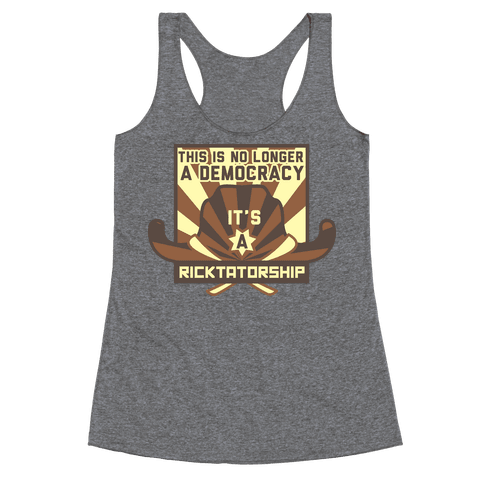 Ricktatorship Revolution Racerback Tank Top