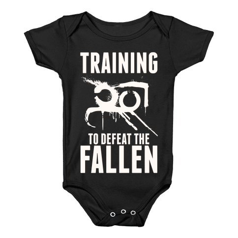Training To Defeat The Fallen Baby Onesy