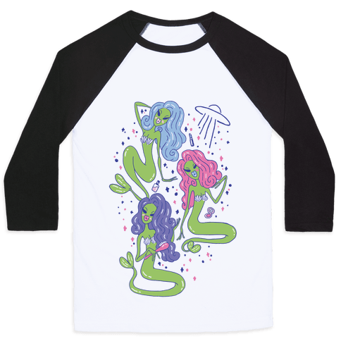 Mermaid Martians Baseball Tee