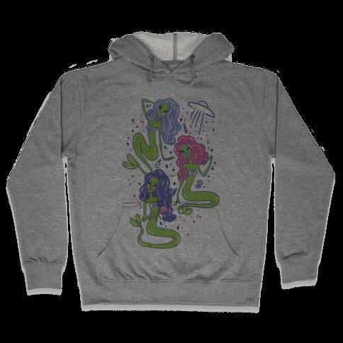 Mermaid Martians Hooded Sweatshirt