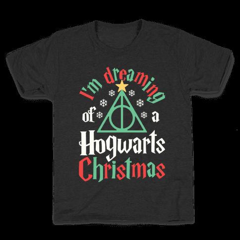 I'm Dreaming Of A Hogwarts Christmas Kids T-Shirt