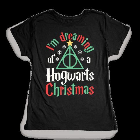 I'm Dreaming Of A Hogwarts Christmas Womens T-Shirt