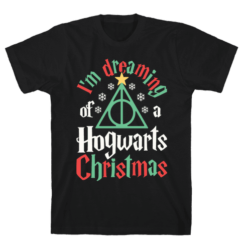 I'm Dreaming Of A Hogwarts Christmas Mens T-Shirt