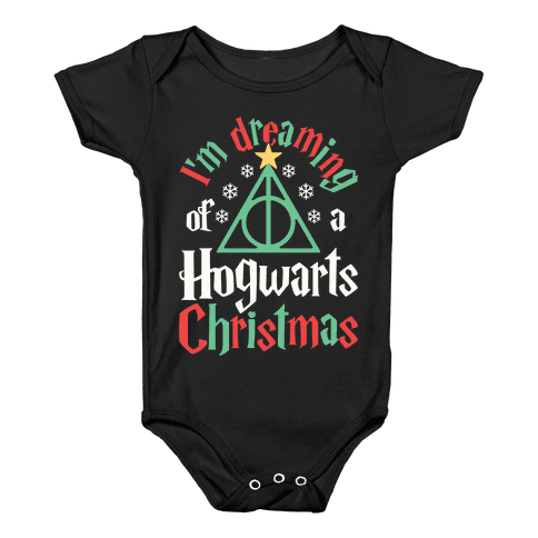 I'm Dreaming Of A Hogwarts Christmas Baby Onesy