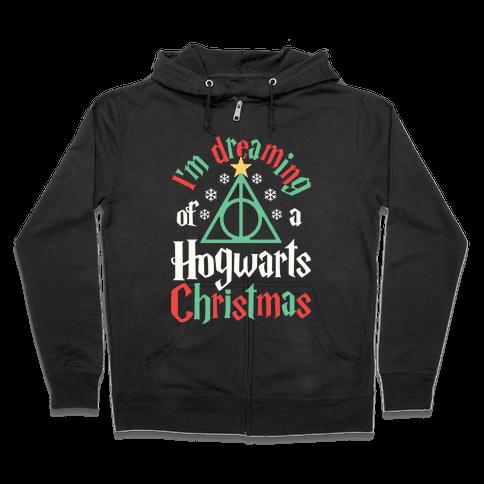 I'm Dreaming Of A Hogwarts Christmas Zip Hoodie