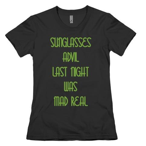 Sunglasses and Advil Womens T-Shirt