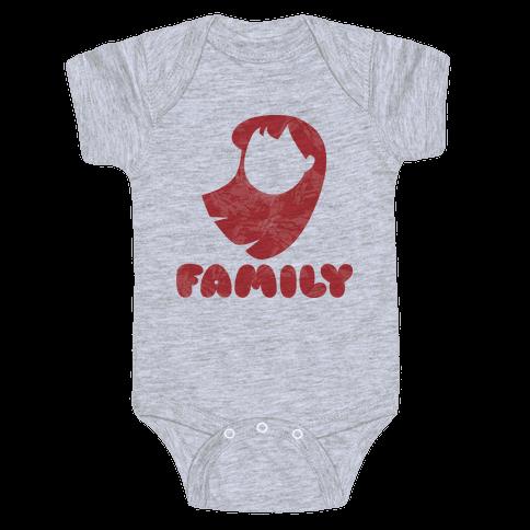 Ohana Means Family (family Half) Baby Onesy