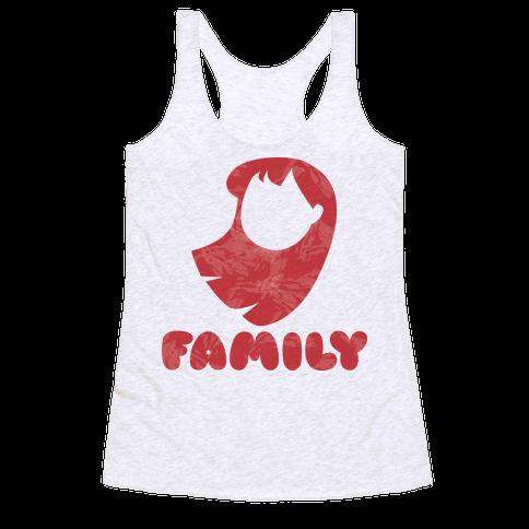 Ohana Means Family (family Half) Racerback Tank Top