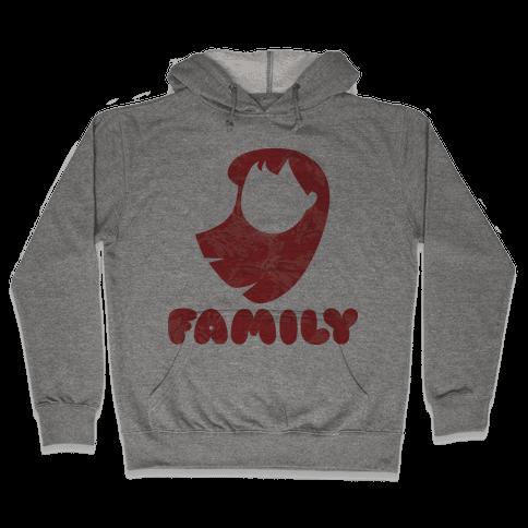 Ohana Means Family (family Half) Hooded Sweatshirt
