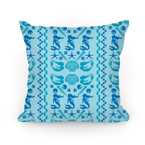 Ugly Mermaid Sweater Pillow