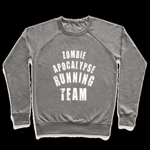 Zombie Apocalypse Running Team (White Ink) Pullover