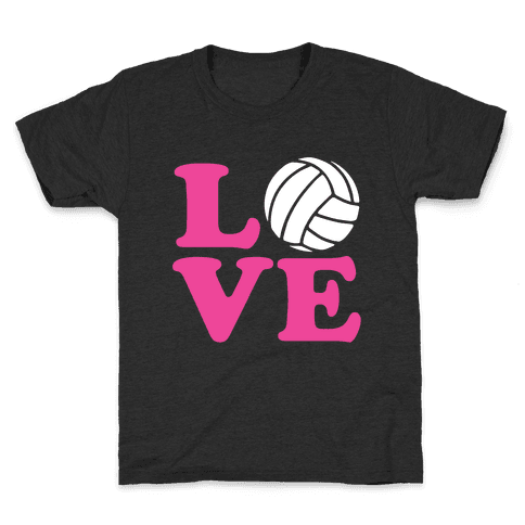 Love Volleyball Kids T-Shirt