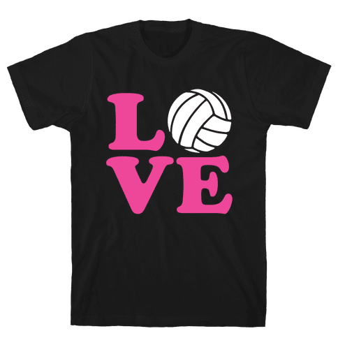 Love Volleyball Mens T-Shirt