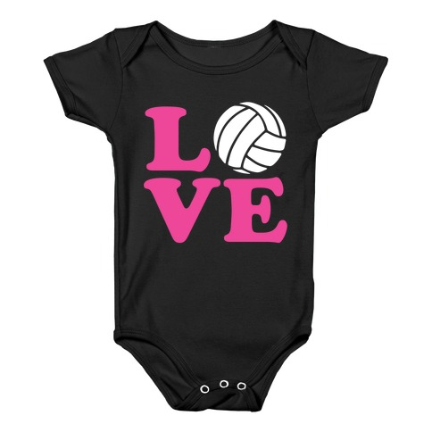 Love Volleyball Baby Onesy