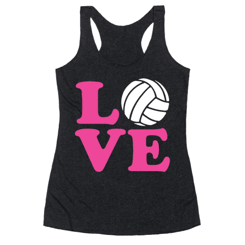 Love Volleyball Racerback Tank Top