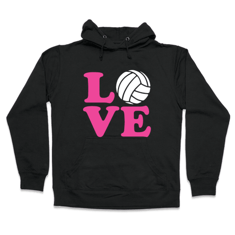 Love Volleyball Hooded Sweatshirt