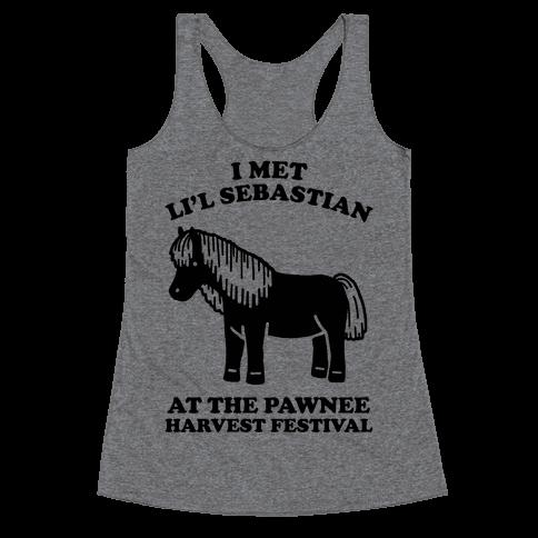 I Met Li'l Sebastian at the Pawnee Harvest Festival Racerback Tank Top