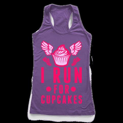 I Run (For Cupcakes) Racerback Tank Top