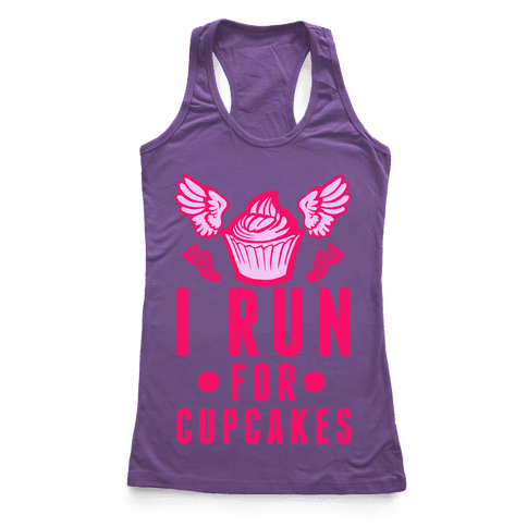 I Run (For Cupcakes) Racerback Tank Top