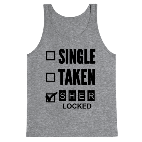 Single Taken Sherlocked Tank Top