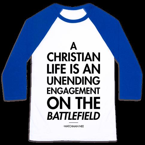 """Christian Life"" Watchman Nee Baseball Tee"