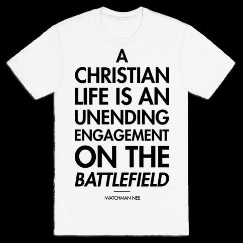 """Christian Life"" Watchman Nee Mens T-Shirt"