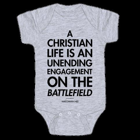 """""""Christian Life"""" Watchman Nee Baby Onesy"""