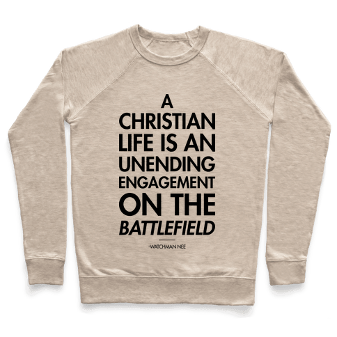 """""""Christian Life"""" Watchman Nee Pullover"""