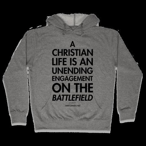 """""""Christian Life"""" Watchman Nee Hooded Sweatshirt"""