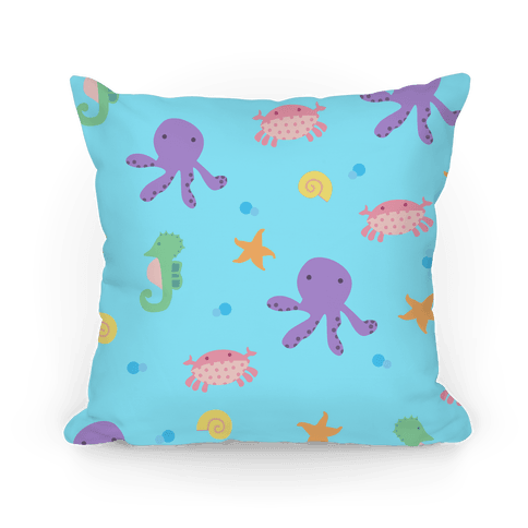Sea Creature Pattern Pillow