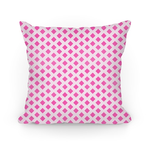 Pink Diamond Pattern Pillow