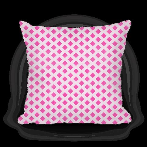 Pink Diamond Pattern Pillow