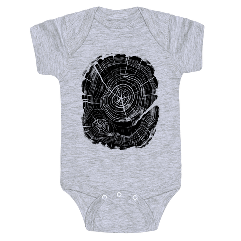 Tree Growth Rings Baby Onesy