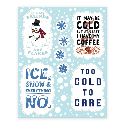 Winter Sticker and Decal Sheet