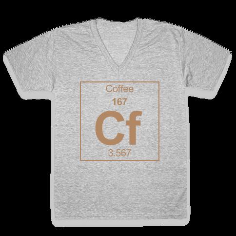 Coffee V-Neck Tee Shirt