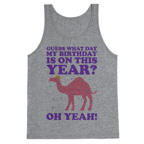 Guess What Day My Birthday is on This Year? Tank Top