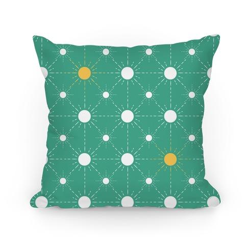 Sunshine Diamond Green Pattern Pillow
