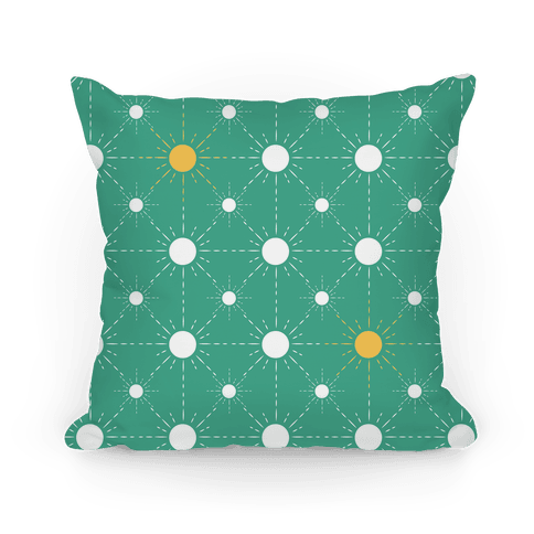 Sunshine Diamond Green Pattern Pillow