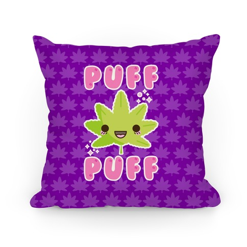 Puff Puff The Kawaii Pot Leaf Pillow