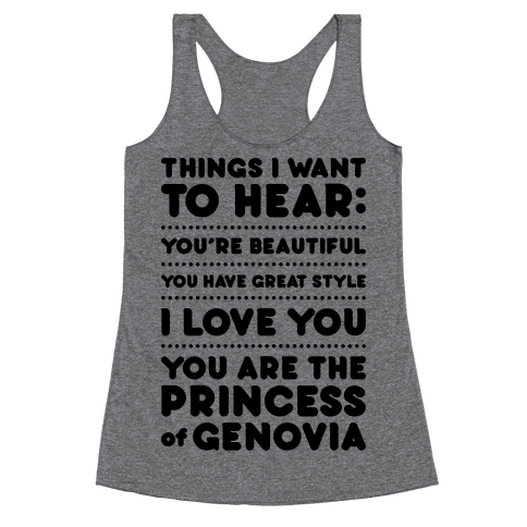 Things I Want To Hear Racerback Tank Top