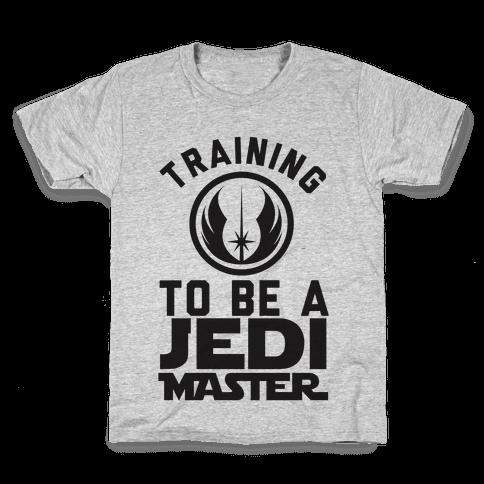 Training To Be A Jedi Master Kids T-Shirt